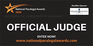 National Paralegal Awards 2020 Judge Logo