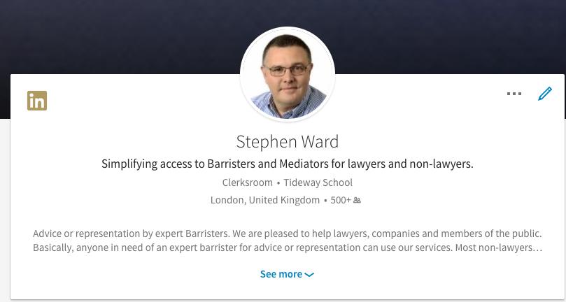 Desktop profile for Stephen Ward